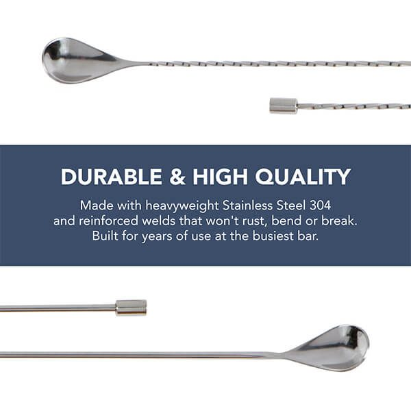 Spiral & Smooth Bar Spoons (2pc)