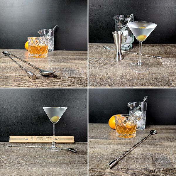 Spiral Bar Spoons (2pc)