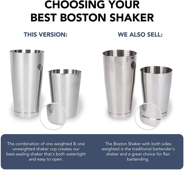 Boston Shaker - Weighted / Unweighted