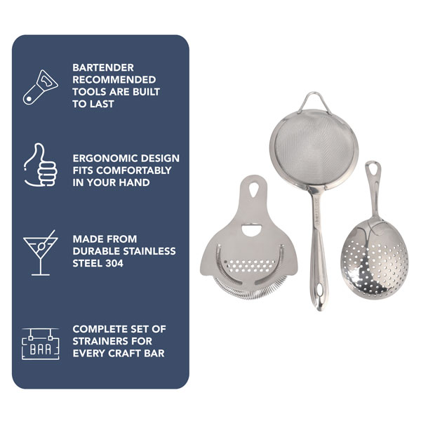 Cocktail Strainers (3pc Set)