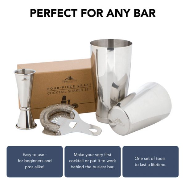 4 Piece Craft Bar Set
