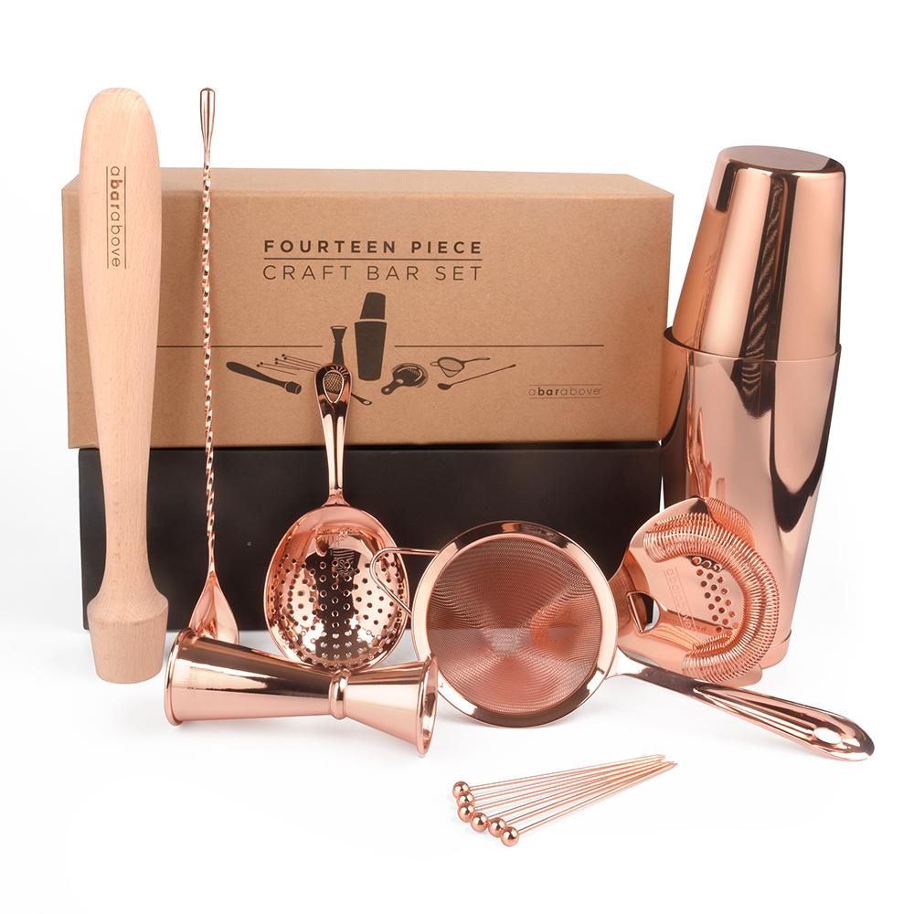 Complete Craft Bar Set - Copper Finish (14 Piece Set)