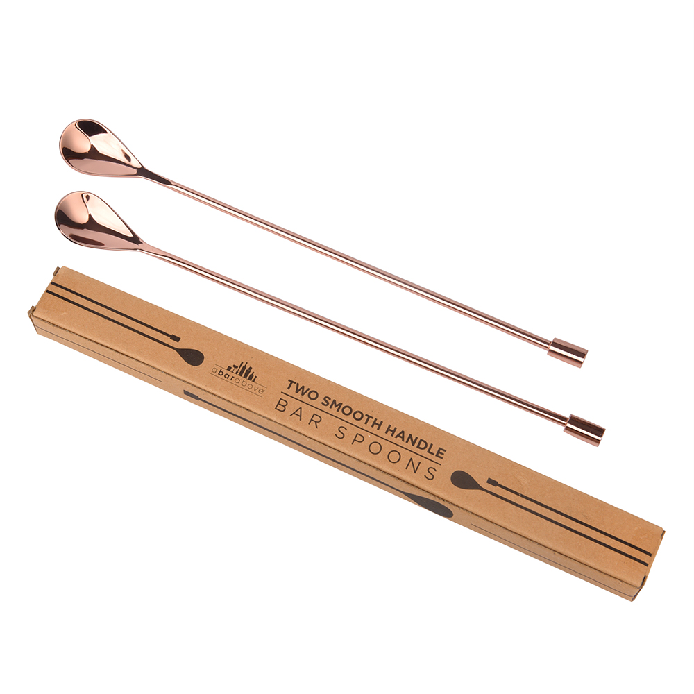 Copper Smooth Bar Spoons (2pc)