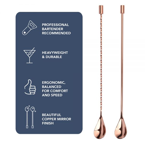 Copper Spiral & Smooth Bar Spoons
