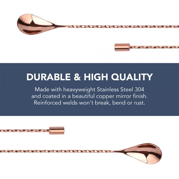 Copper Spiral Bar Spoons (2pc)