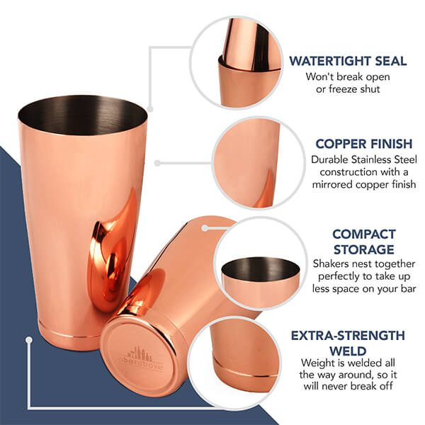 Copper Boston Shaker - Weighted