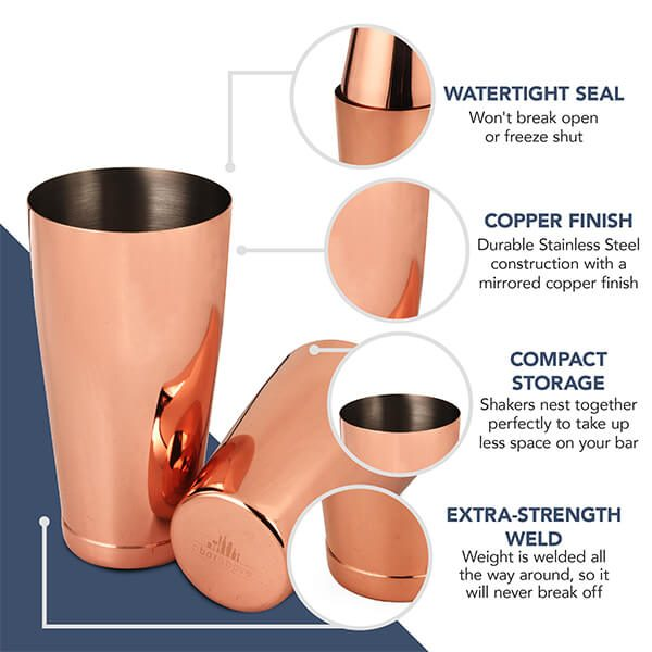 Copper Boston Shaker