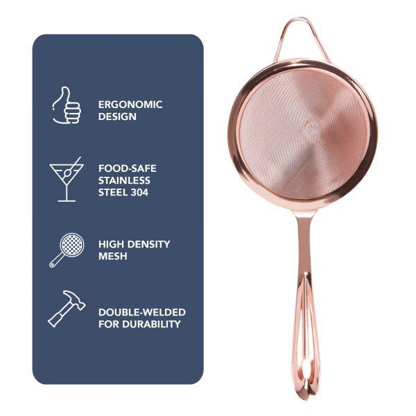 Fine Mesh Strainer - Copper
