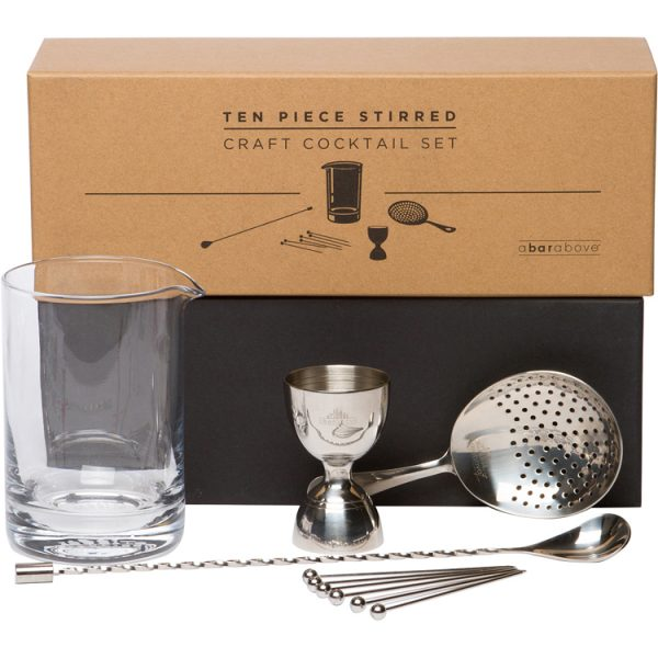 NEW! 10pc Stirred Craft Cocktail Set - Stainless Steel