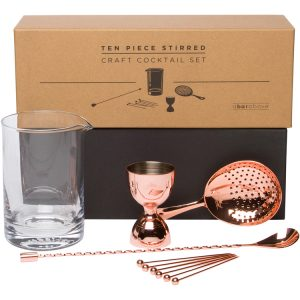 NEW! 10pc Stirred Craft Cocktail Set - Copper Finish