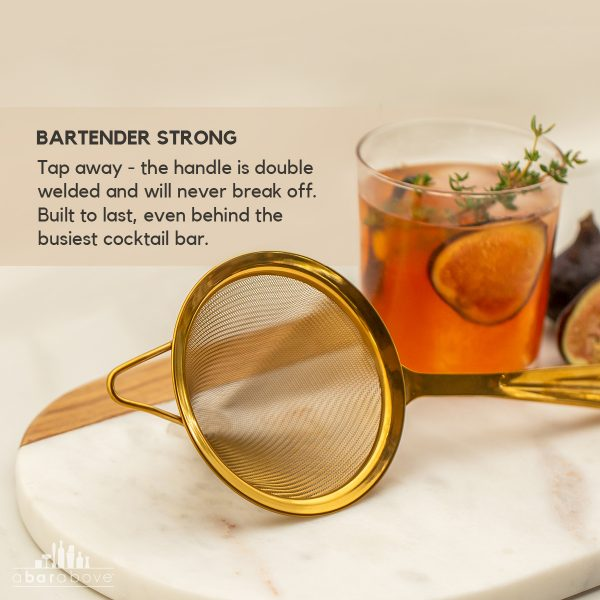 GoldFine Strainer Bartender Strong