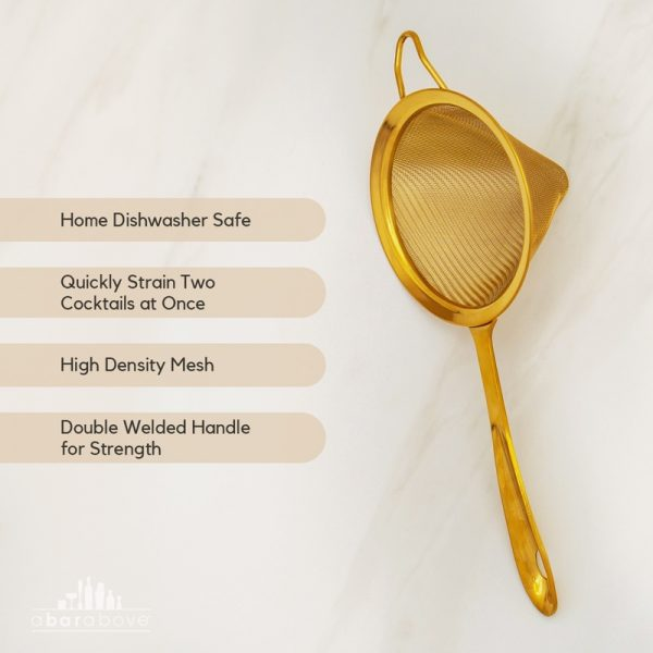 Features of the Gold Fine Strainer