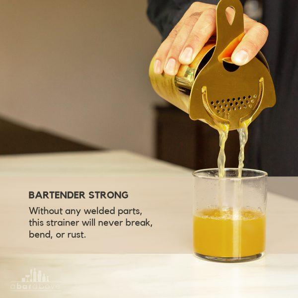 Gold Hawthorne Strainer - Bartender Strong